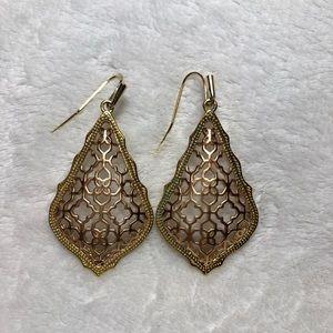 KENDRA SCOTT Addie Gold Drop Earrings in Rose Gold
